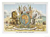 Victoria Depicted with Her Loyal Lion Giclee Print by Tom Merry