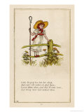 Standing on a Fence Looking for Her Sheep Giclee Print by Kate Greenaway