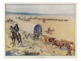 The Great Trek the Voortrekkers Giclee Print by J.r. Skelton