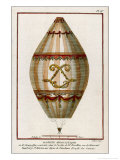 The First Practical Balloon Montgolfier&#39;s First Air Balloon Unmanned was Launched Giclee Print by Charles Francois Sellier