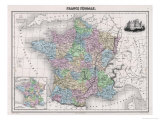 France in Feudal Times with the Country Allotted to Various Nobles Giclee Print by  Sengteller