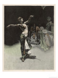Salome Dancing Elegantly Before Herod, Her Reward was the Head of John the Baptist Giclee Print by Albert Langen