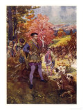 Jacques Cartier Impresses the Native Canadians with His Cannon Giclee Print by Henry Sandham