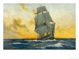 British Warship of the Napoleonic Era Giclee Print by Charles M. Paddey