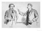 Albert Einstein Scientist with Paul Painleve Giclee Print by Lucien Jonas