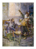 Charles de la Tour Tells His Father Claude Giclee Print by Henry Sandham
