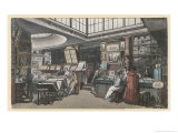 Ackermann's Repository of Arts 101 the Strand Giclee Print by Rowlandson & Pugin