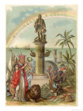 Christopher Columbus Allegorised Giclee Print by Planetta