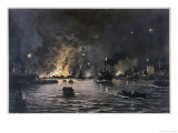 The City of Antwerp is Taken by German Forces after a Siege Giclee Print by Malfroy