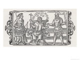 Three Gods of the Ancient Peoples of Northern Europe, Frigga Thor and Odin Giclee Print by Olaus Magnus
