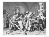 German Monks Entertain a Visitor with the Wine of the Cloister Giclee Print by W. Grubner