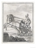 Four-Horse-Power Chariot of the Kind Used in Racing Giclee Print by  Saint-sauveur
