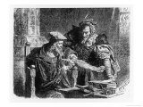Faust Making His Contract with Mephistophiles Premium Giclee Print by Franz Sinn