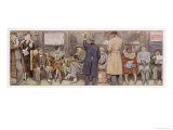 Passengers on New York Subway Giclee Print by J. Simont