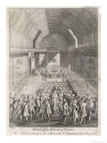 King George III Opens Parliament with Members of Both Houses Attending Giclee Print by J. Lodge