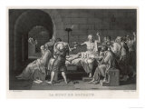 Socrates Greek Philosopher Taking Hemlock Giclee Print by Manceau 
