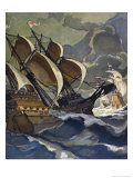 Armed Vessels of the German Hanseatic League Trading Fleet Giclee Print by Walther Puttner
