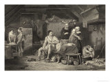 Alfred in the Neatherds Cottage Manages to Burn the Cakes Giclee Print by Harry Payne