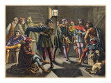 Columbus Reassures His Crew's Doubts Giclee Print by Planetta