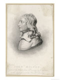 John Milton English Poet and Puritan in Middle Age in the Form of a Portrait Bust Giclee Print by Henri Meyer