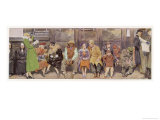 Passengers on New York Subway Giclee Print by J. Simont