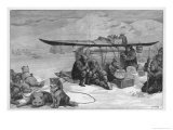 "George de Long in His Ship ""Jeanette"" Proved That the Arctic Sea Ice is Moved by Ocean Currents Giclee Print by H.w. Klutschak"