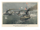 Battle of Tsushima Giclee Print by C. Schon
