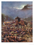 The Scots Drug and Then Attack Their Viking Invaders Giclee Print by Harry Payne