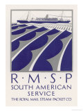 Poster for the South American Service of the Royal Mail Steam Packet Company Giclee Print by  Herrick