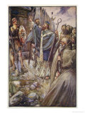 Saint Columba Premium Giclee Print by J.r. Skelton