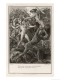 Aeneas Tries to Defend the Walls of Troy Against the Greeks, But It's a Losing Battle Giclee Print by J. Mathieu
