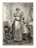 Marie-Louise of Austria Second Wife of Napoleon I with Their Son le Roi de Rome Giclee Print by  Langlois