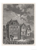 Benjamin Franklin's First Lightning Conductor on Benjamin West's House Premium Giclee Print by  Lebreton