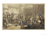 The Vicar Preaches to His Fellow Prisoners Who at First Deride Him But Later Come to Respect Him Giclee Print by Thomas Rowlandson