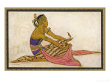 Javanese Dancer in a Seated Pose Giclee Print by Tyra Kleen