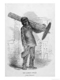 Back Bent by the Weight of His Brushes a Young Chimneysweep Stands Before the Grate Giclee Print by  Henning
