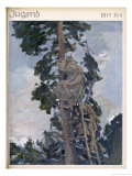 German Look-Out Post up a Tree Spotting Enemy Artillery Giclee Print by Paul Rieth