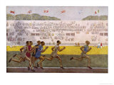 Runners on the Track Giclee Print by Georges Leroux