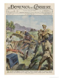 The Italians Determined to Demonstrate Their Good Intentions Introduce Tractors to the Country Giclee Print by Aldo Raimondi