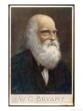 William Cullen Bryant American Poet and Editor Giclee Print by Cw Quinnell