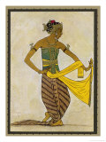 Javanese Dancer in a Sculpturesque Pose Giclee Print by Tyra Kleen