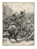 In Manchester Yeomanry are Ordered to Clear a Crowd Giclee Print by H.m. Paget