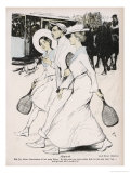 Three German Players Heading for the Courts Giclee Print by Adolf Munzer