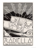 In-Car Entertainment Thanks to This Radiella Giclee Print by Haldo 