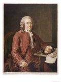 Carl Von Linne Known as Linnaeus Swedish Naturalist and Botanist Premium Giclee Print by A. Roslin