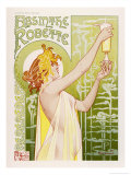 Absinthe Robette Reproduction proc&#233;d&#233; gicl&#233;e par Privat Liremont
