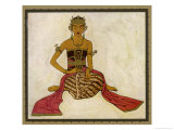 Javanese Dancer in a Seated Pose Premium Giclee Print by Tyra Kleen