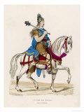 Chief of the Franks in Medieval France Giclee Print by  Meunier