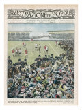 Trouble at the Cup Final When the Over-Capacity Wembley Crowd Invades the Field Giclee Print by Alfredo Ortelli