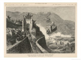 The French Take the China Gate in the Great Wall Giclee Print by Henri Meyer